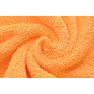 Orange Ringspun Cotton Small Bath Handdukar